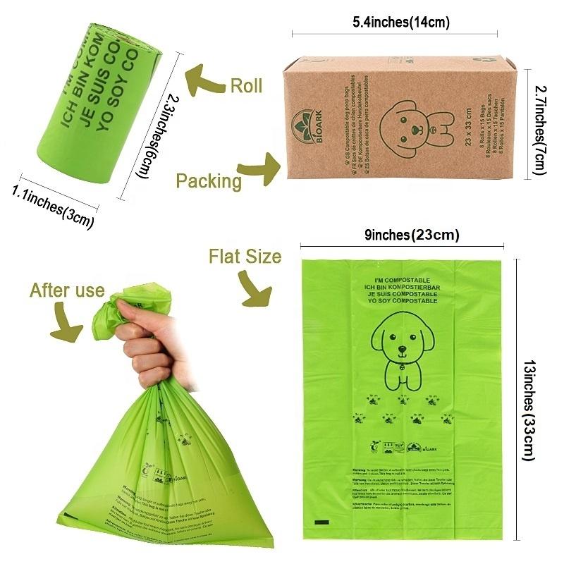 Corn Starch Wholesale Custom Printed Private Label Compostable Pet Dog Waste Bag Biodegradable Dog Poop Bag