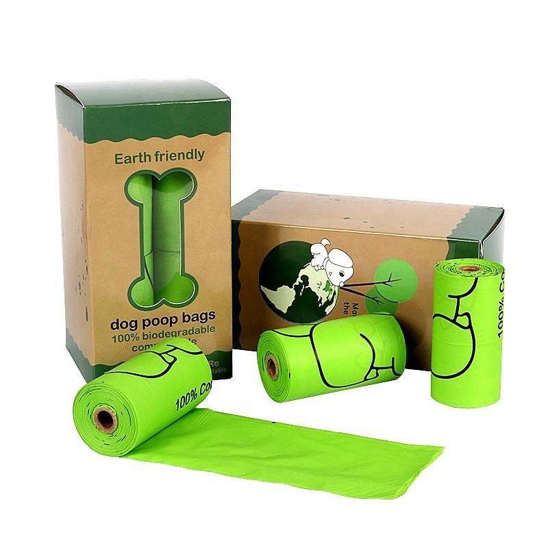 Custom Eco Friendly Colorful Capsule Pills Shape Case Box Disposable Pet Cat Dog Portable Pick-up Waste Poop Bag