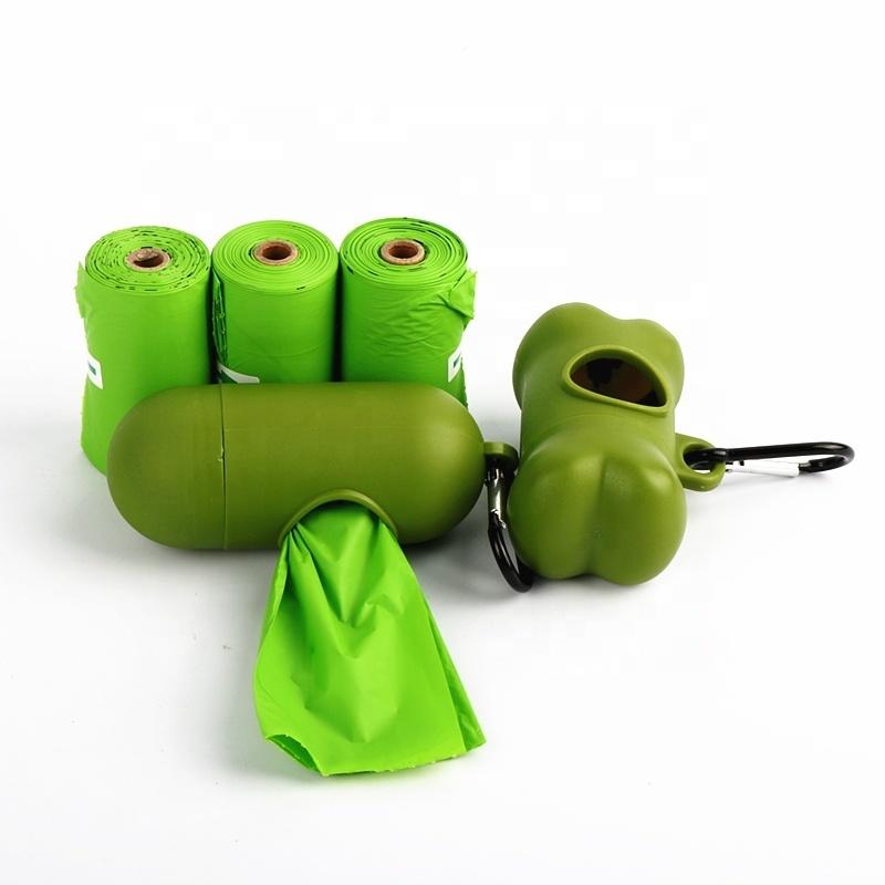 100% Biodegradable and ok compost home pet dog poop bag customized printing pet poop bag