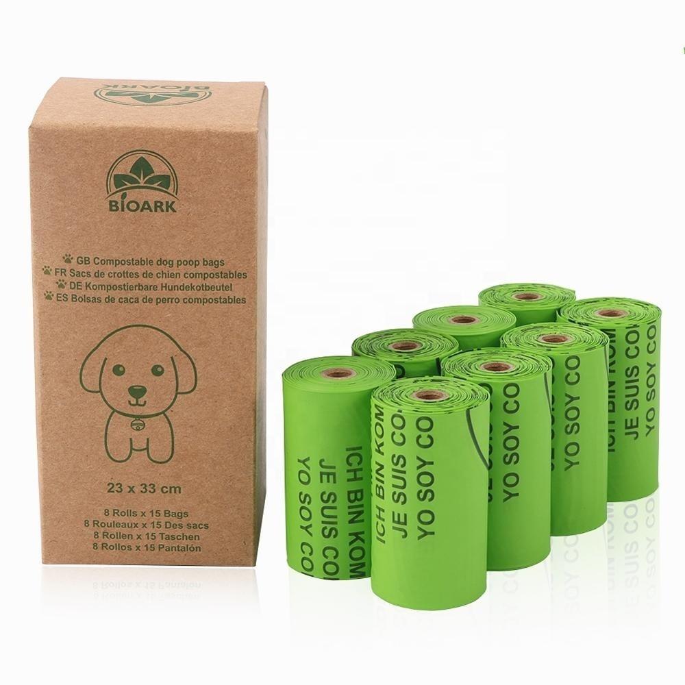 cornstarch PET 100% PLA dog pet poop bag biodegradable and compostable poop bag