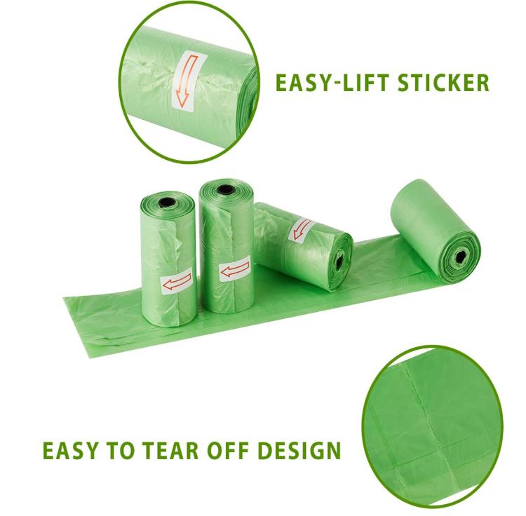 Amazon hot selling Eco friendly 100% Biodegradable Compostable Pet Dog Poop Bag Dog Poop Bag