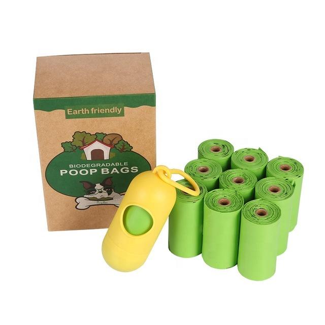 custom logo eco-friendly corn starch compostable biodegradable dog poop bag pet poop bag
