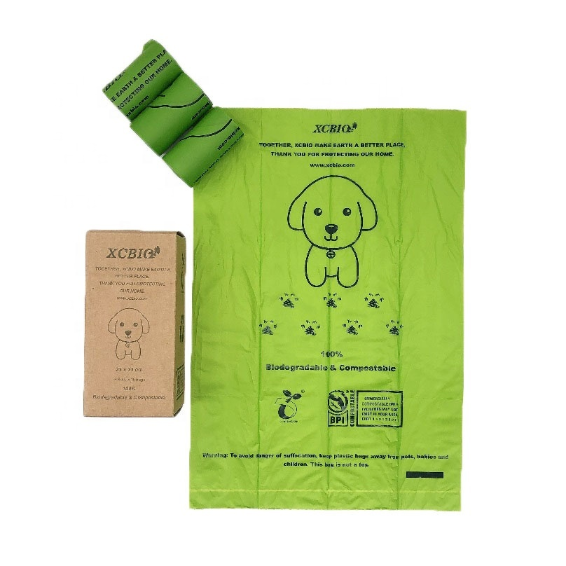Biodegradable Compostable Disposable Custom Printed Eco Friendly Pet Waste Poop Bag For Dogs