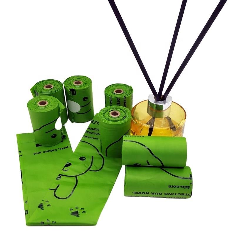 Custom printed corn starch 100% biodegradable plant based eco friendly dog waste bag dog poop bag