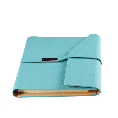 Premium A5 Size Logo Printed Custom Pu Leather Journal Notebook with Multi Insert Pocket Soft Cover