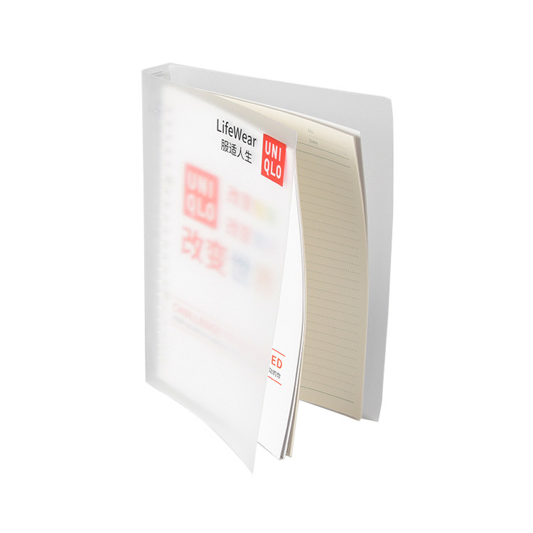 A4 A5 Clear Cover Delicate Fine Binding Office Supplies Convenient Spiral Notebook for Student