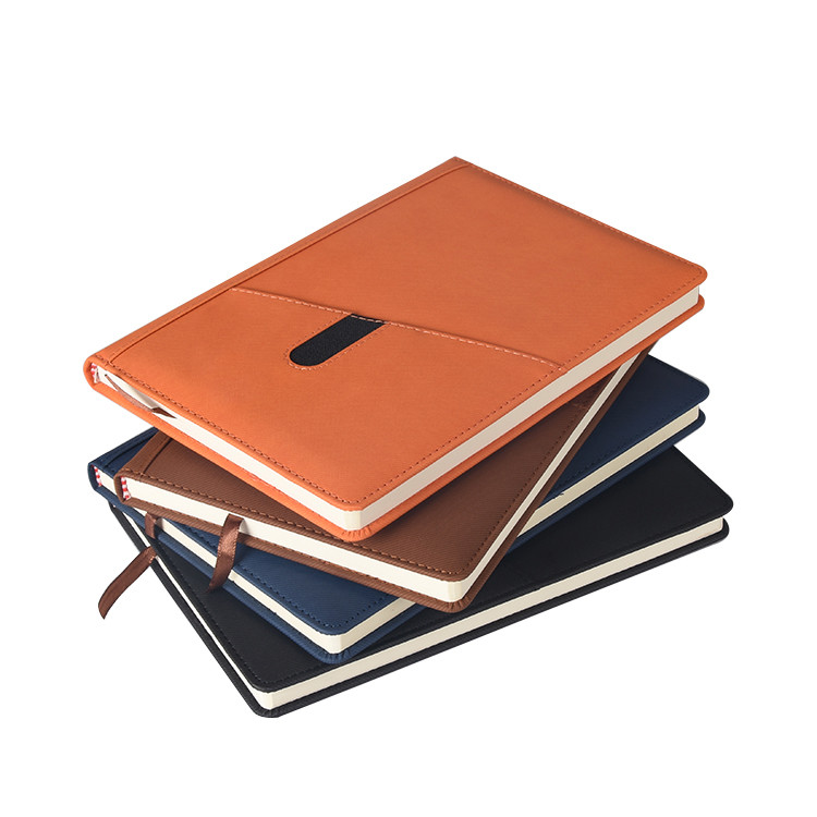 Hot Sale Leather Cover Personalized A5 Size Office Business Hardcover Notebook In Stock
