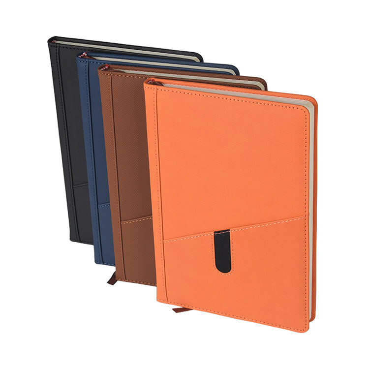In Stock With A Pocket In Front Leather Hardcover Office Workbook Or Notebook