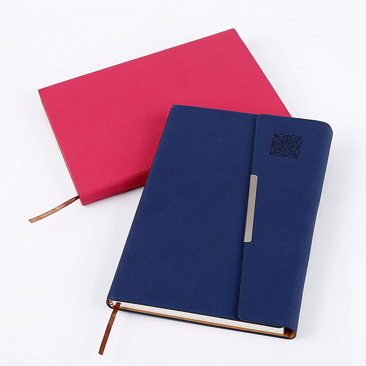 High quality custom logo a5 notebook pu leather diary notebook for student
