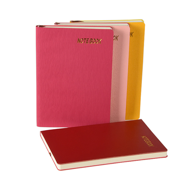 In Stock Soft Leather Cover A5 Size Hardcover School Office Notebook