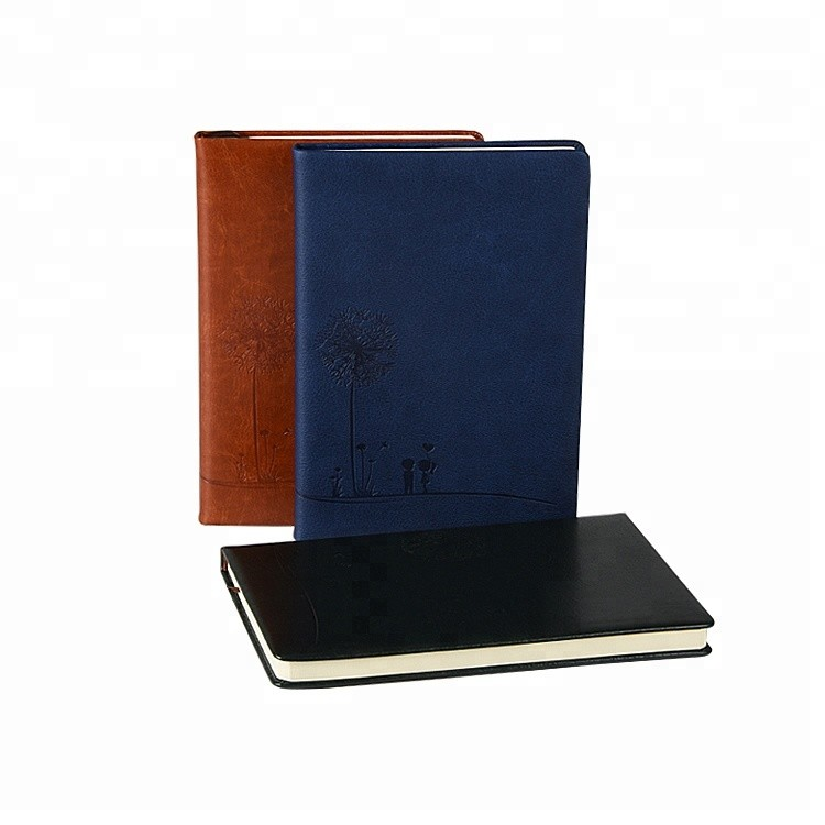 Modern Business Type premium leather Hardcover Notebook In A5 Size