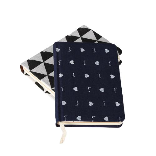 Custom Mini Cloth Cover B6 Hardcover Diary Journal Pocket Notebook
