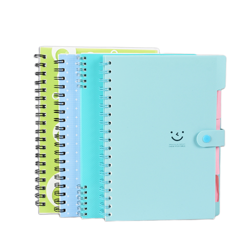 Hard Cover or PP Cover Spiral Notebook with Button Closure