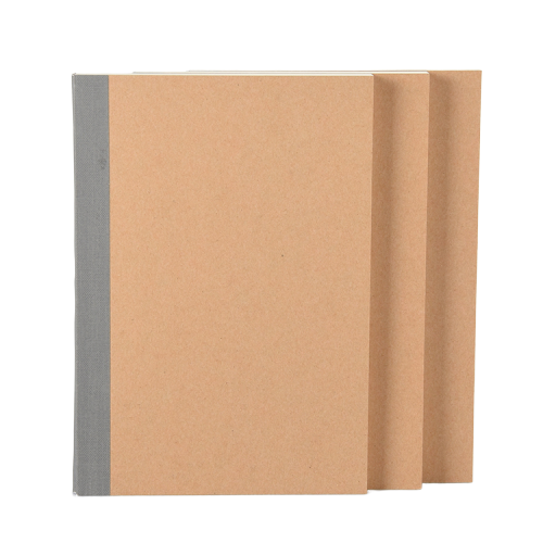 Wholesale A5 Journal Custom Plain Kraft Paper Blank Cover Sketch Notebook With Nude Spine Exposed Binding