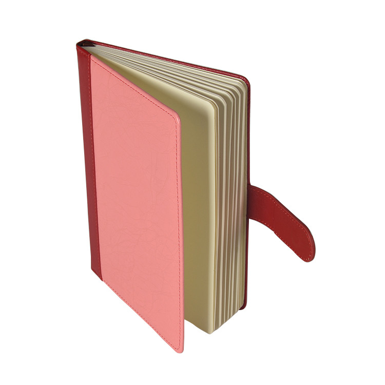 Custom PU Leather Hardcover Magnetic Closure Working Notebook In Stock