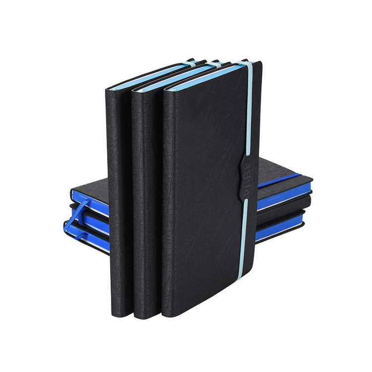 Modern designs high-grade embossed logo and pu leather notebook for promotional gift