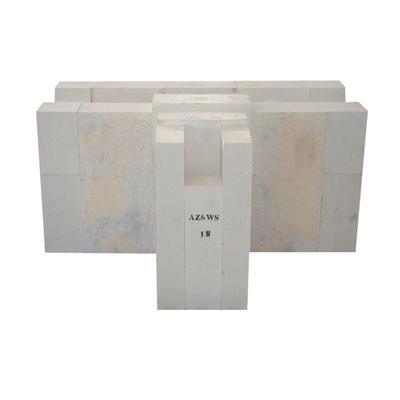 Refractory high-pure zircon bricks for glass furnace