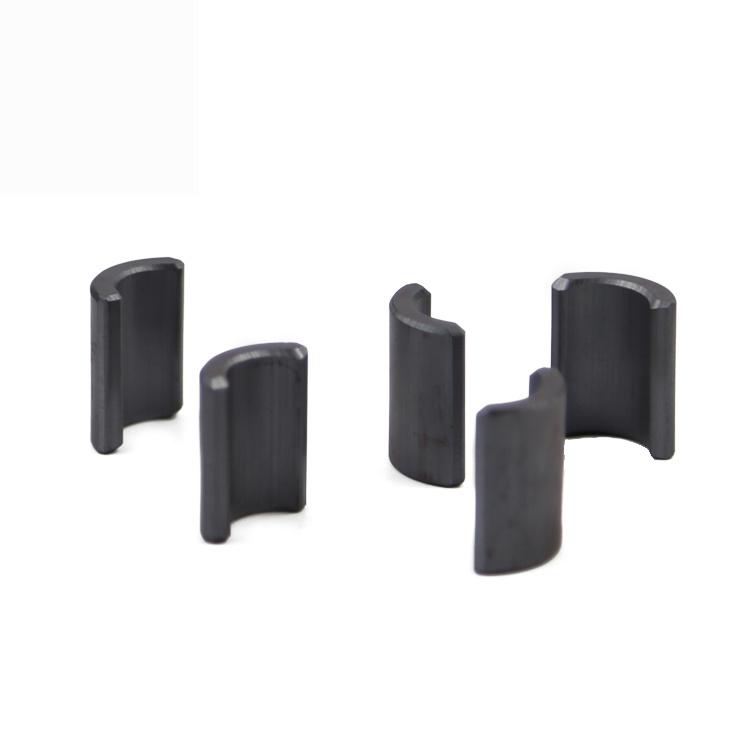 Professional China factory the wet pressure Segment Ferrite arc magnet for fan motor
