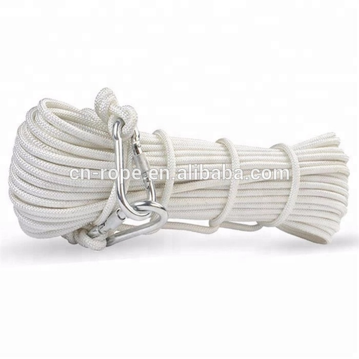 10mm nylon sailing rope for sport, mountain rock static climbing rope