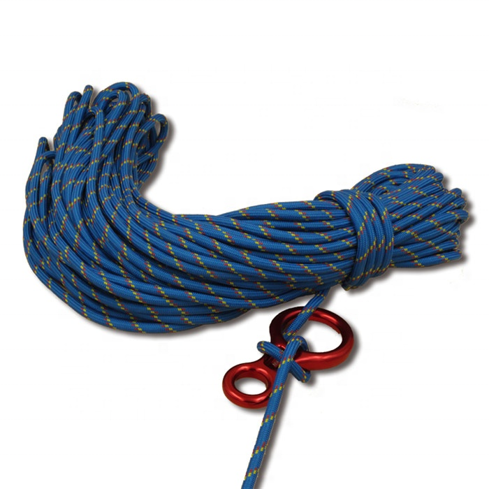 High Strength Outdoor Sport Safety Equipment Braided Static Climbing Rope
