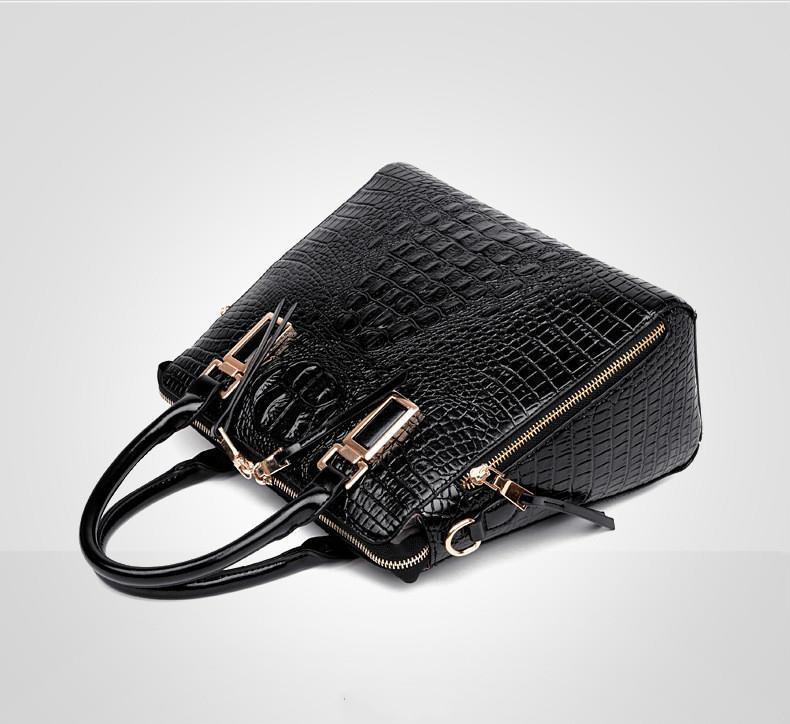 Crocodile pattern Tote Women Leather brahmin Handbags Ladies Party Shoulder Bags Fashion Female luxury designer brand Bags