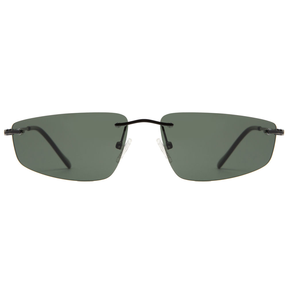 EUGENIA Super Lightweight Stainless Funky Men Frameless Sunglasses