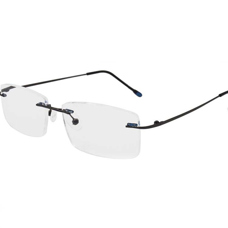 EUGENIA High quality brand new cheap rimless slim frame custom logo reading glasses