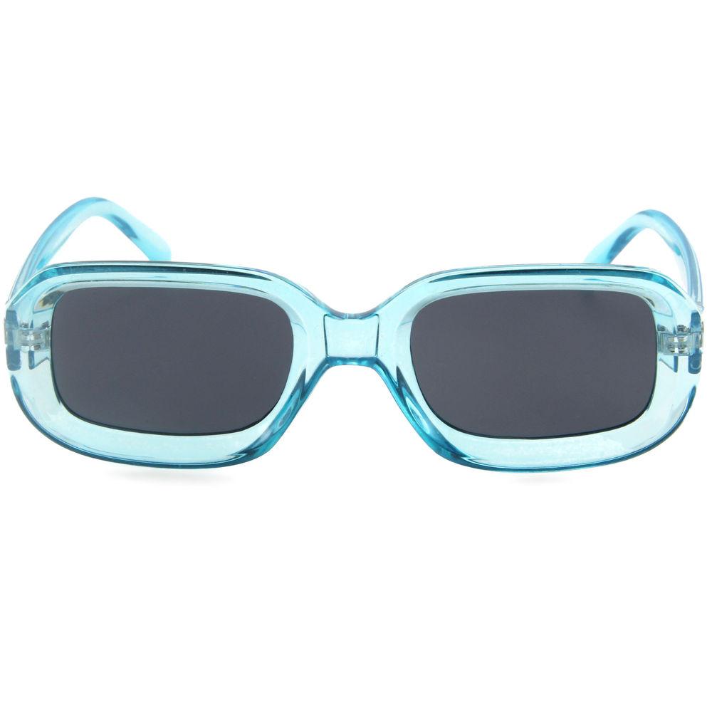 EUGENIA Square reflection mirror transparent top class quality fashion sunglasses special shape vintage women sun glasses