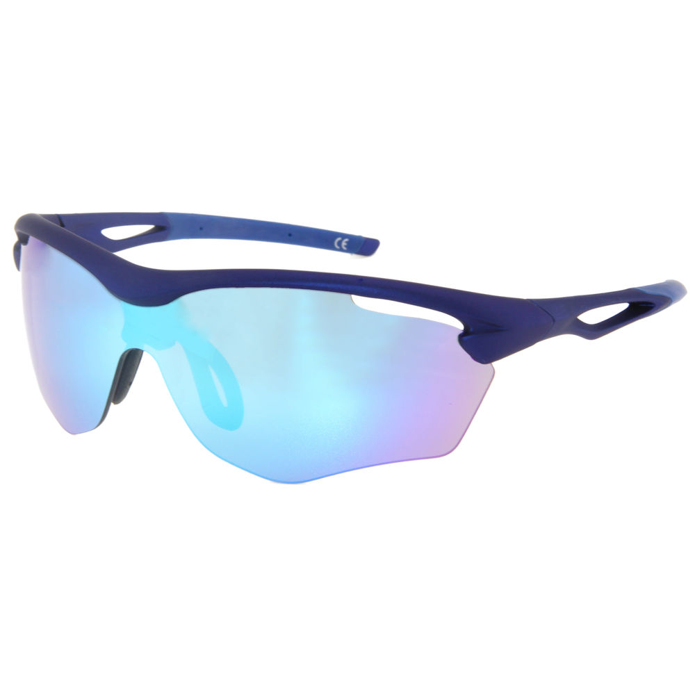 EUGENIA Gafas De Sol Hombre Mirrored Lenses Cycling Double Injection Sport Sunglasses