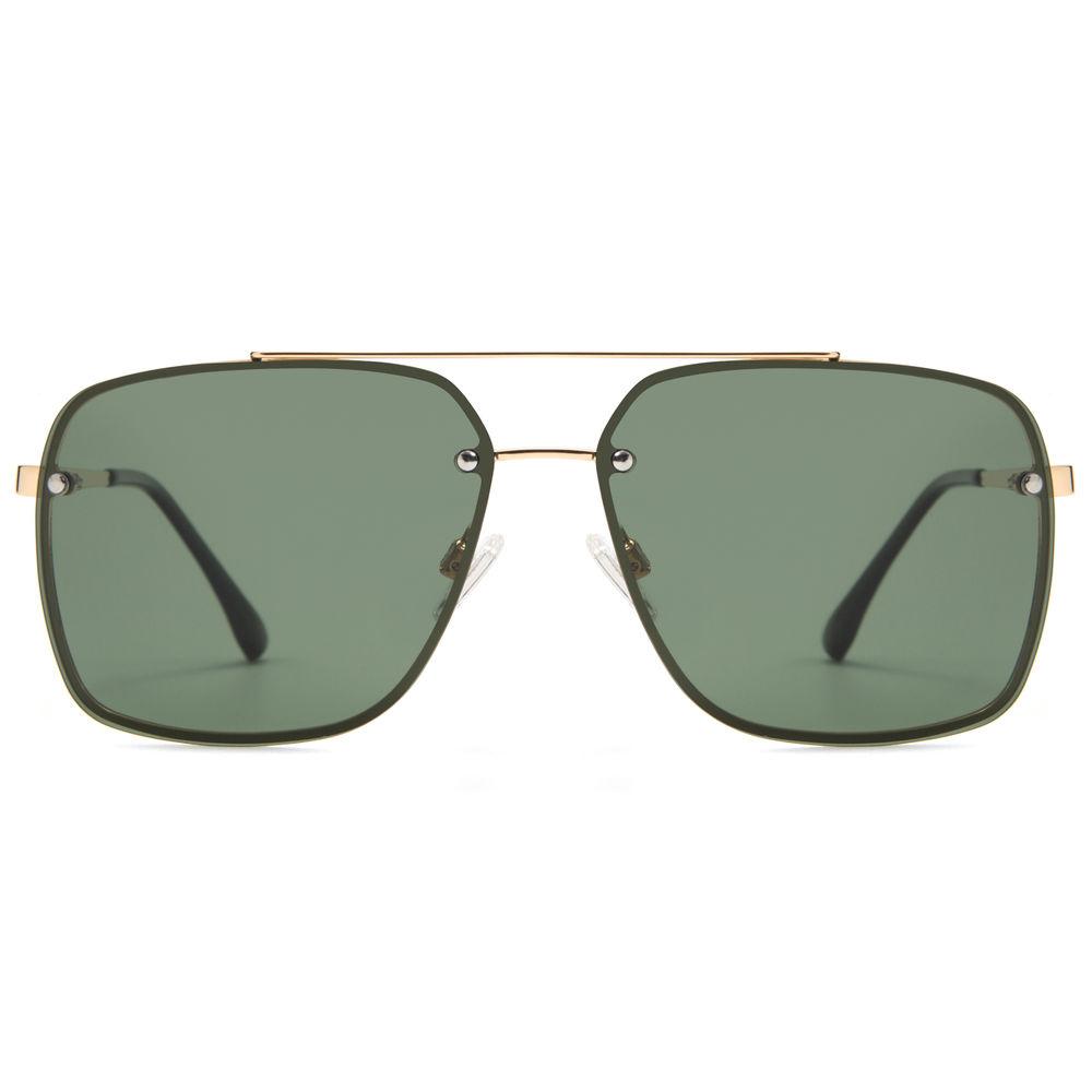 EUGENIA Men 2020 Polarized Custom Logo Printed Lenses Square Sunglasses