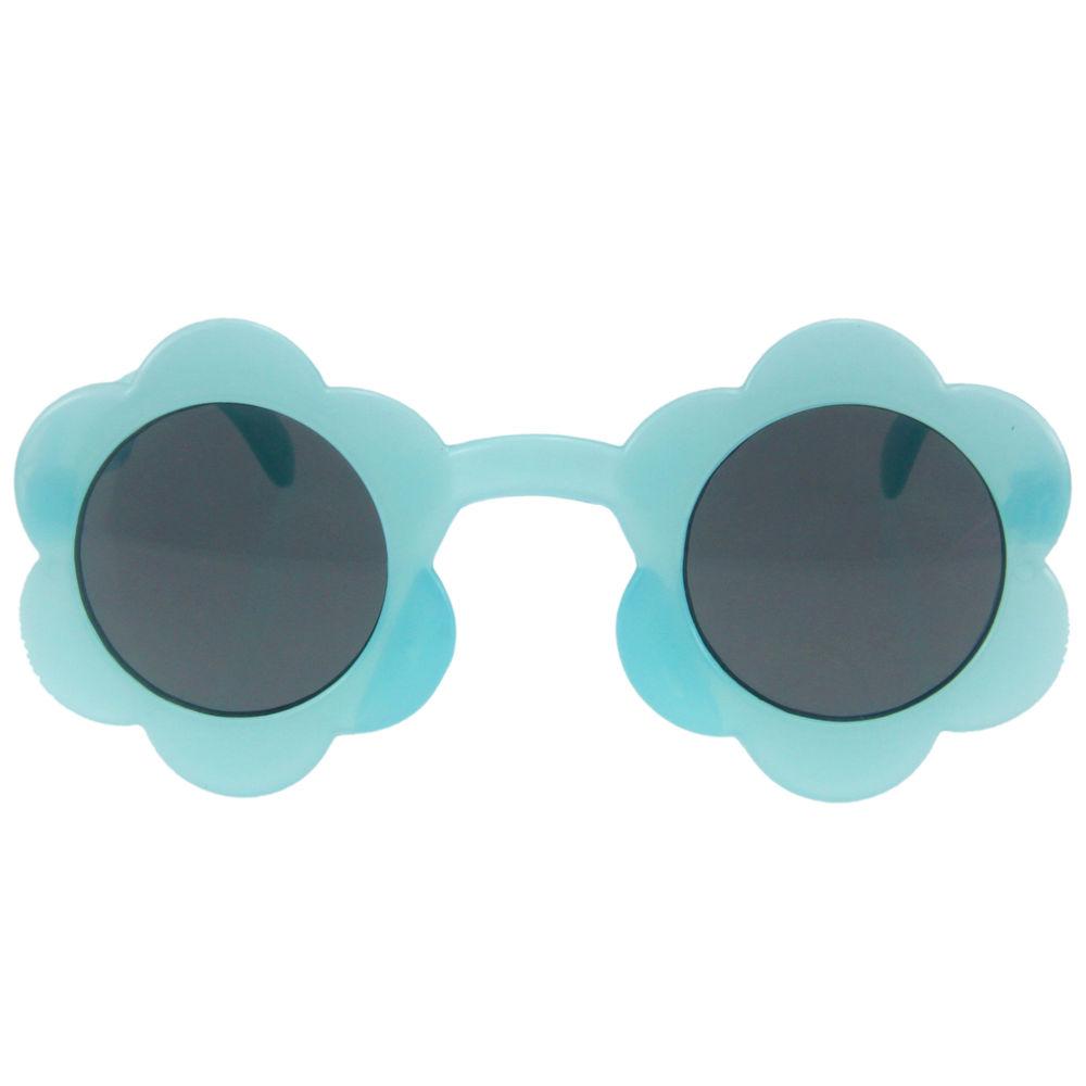 EUGENIA uv400 protection custom logo sparkle flower kids sunglasses manufacturer for kids