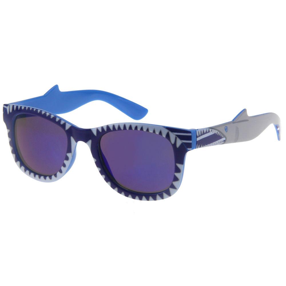 EUGENIA 2021uv protection custom logo shark tooth multi shape gafas de sol para kids sunglasses for boys image