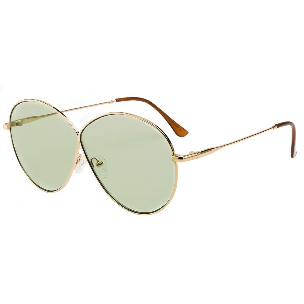 EUGENIA Oversize One piece Trendy Designer Frame Women Custom UV Sunglasses