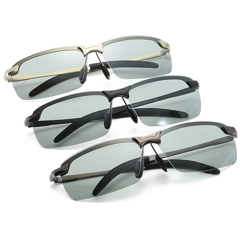 EUGENIA Outdoor Function Driving Classic Photochromic Eyewear Men PC Polarized Photochromic Sunglasses