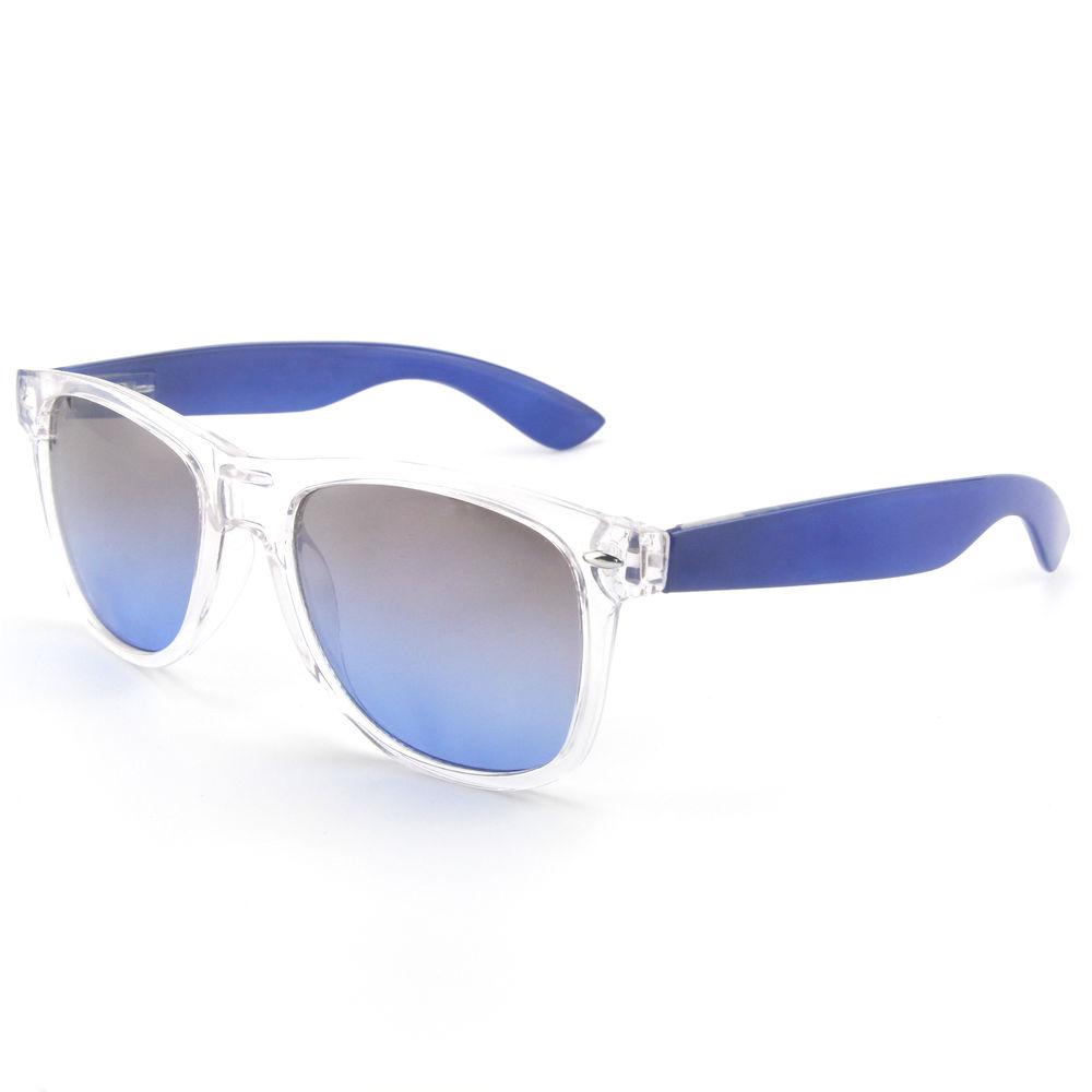 EUGENIA Plastic Frame Classic Style Transparent Men Custom Sunglasses