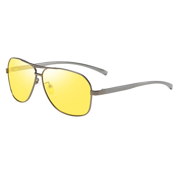 EUGENIA latest style stainless steel frame night driving glasses ce uv400 sunglasses