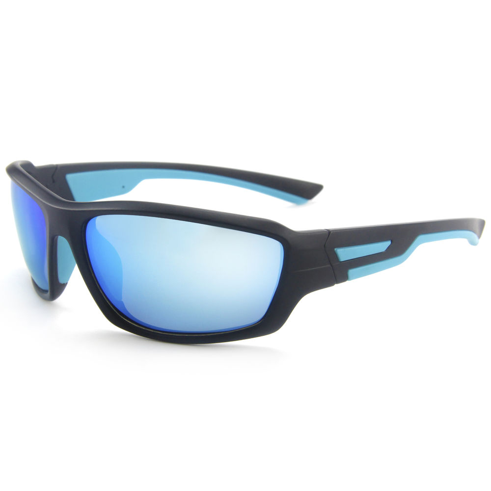 EUGENIA Double Injection Gafas De Sol Hombre Rubber Frame With Mirrored Lenses Cycling Sunglasses