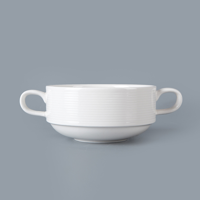 factory direct wholesale tea coffee cup tableware double ear cup for hotel&restaurant porcelain stackable double ear cup