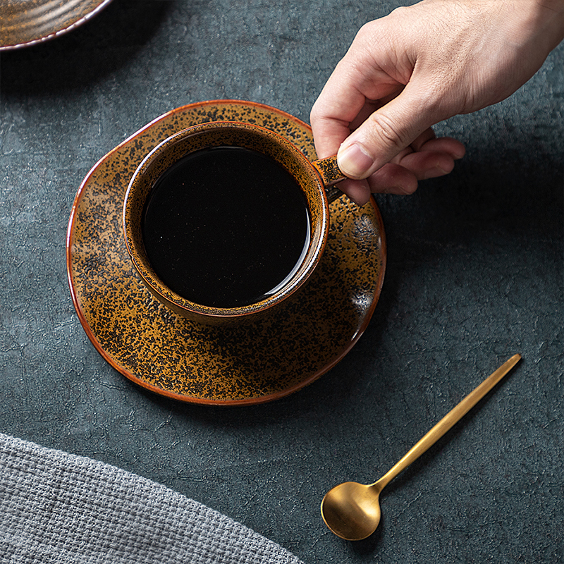 New Trend Dubai Coffee Cup And Saucer, Nordic Restaurant Used Cappuccino Ceramci Coffee Cup