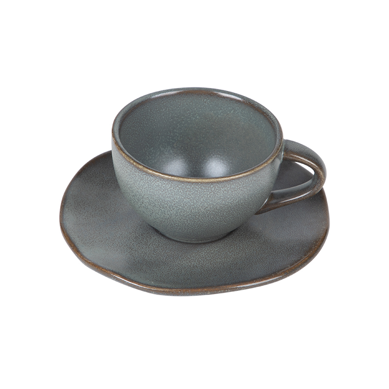 Eco Friendly Rustic Tea Cups And Saucers, Hotel Ware Coffee Cup And Saucer, Wholesale Coffee Cup