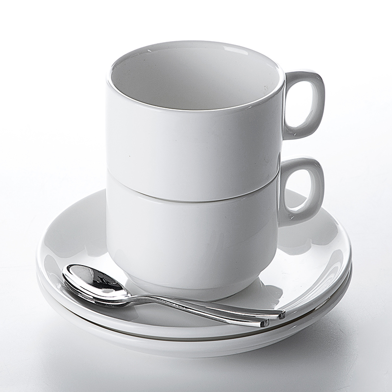 Ceramic Cup Factory Hot Sale Restaurant Cafe Bar Porcelain Cafe Cup Mugs And Saucer,Fine China Tea Cup