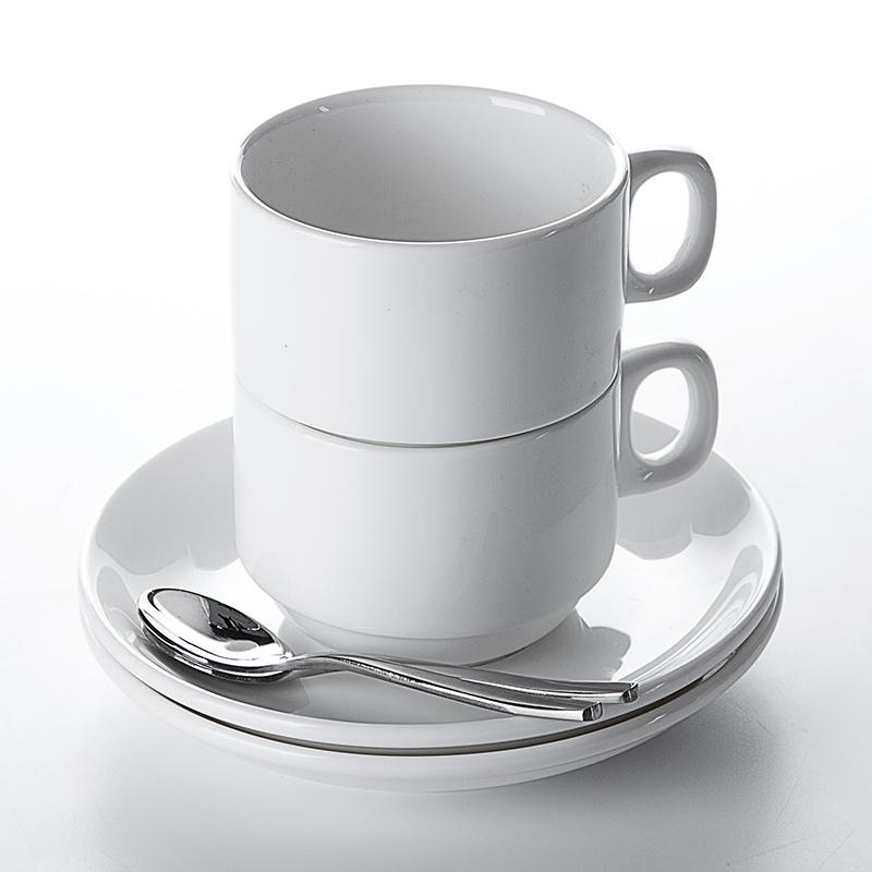 Top Seller RestaurantTea Cup Sets White, Cafe Cup Mug,Bar Porcelain Ceramic White Cup Coffee