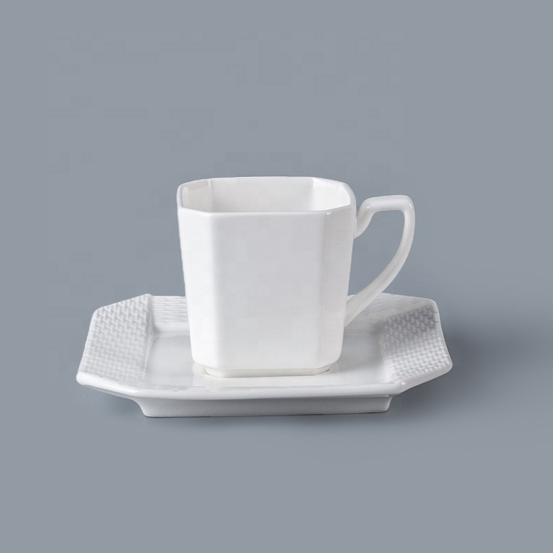 Special Design Crockery 100ml Porcelain Coffee Cup With Saucer, Dining Ware Bone China Tea Cup And Saucer For Hotel^