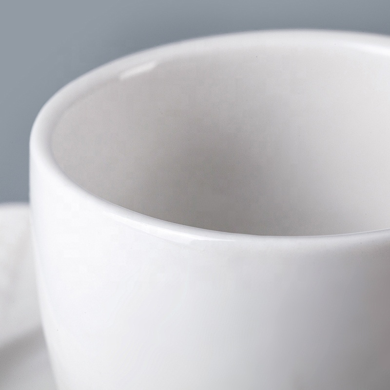China Tableware 135ml Porcelain Tea Cups Coffee Cup With Saucer, Restaurant Hotel Supplies Coffee Cup With Plate*