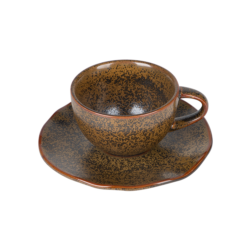 Hotel Dinnerware Porcelain Cup Tea Sets, Coffee Cup Ethiopian, Restaurant Rustic Ceramic Cappuccino Coffee Cup*