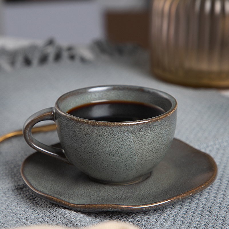 2020 New Design Cafe 4.5oz Ceramic Coffee Cup, Special Restaurant Used Set Coffee Cup Saucer