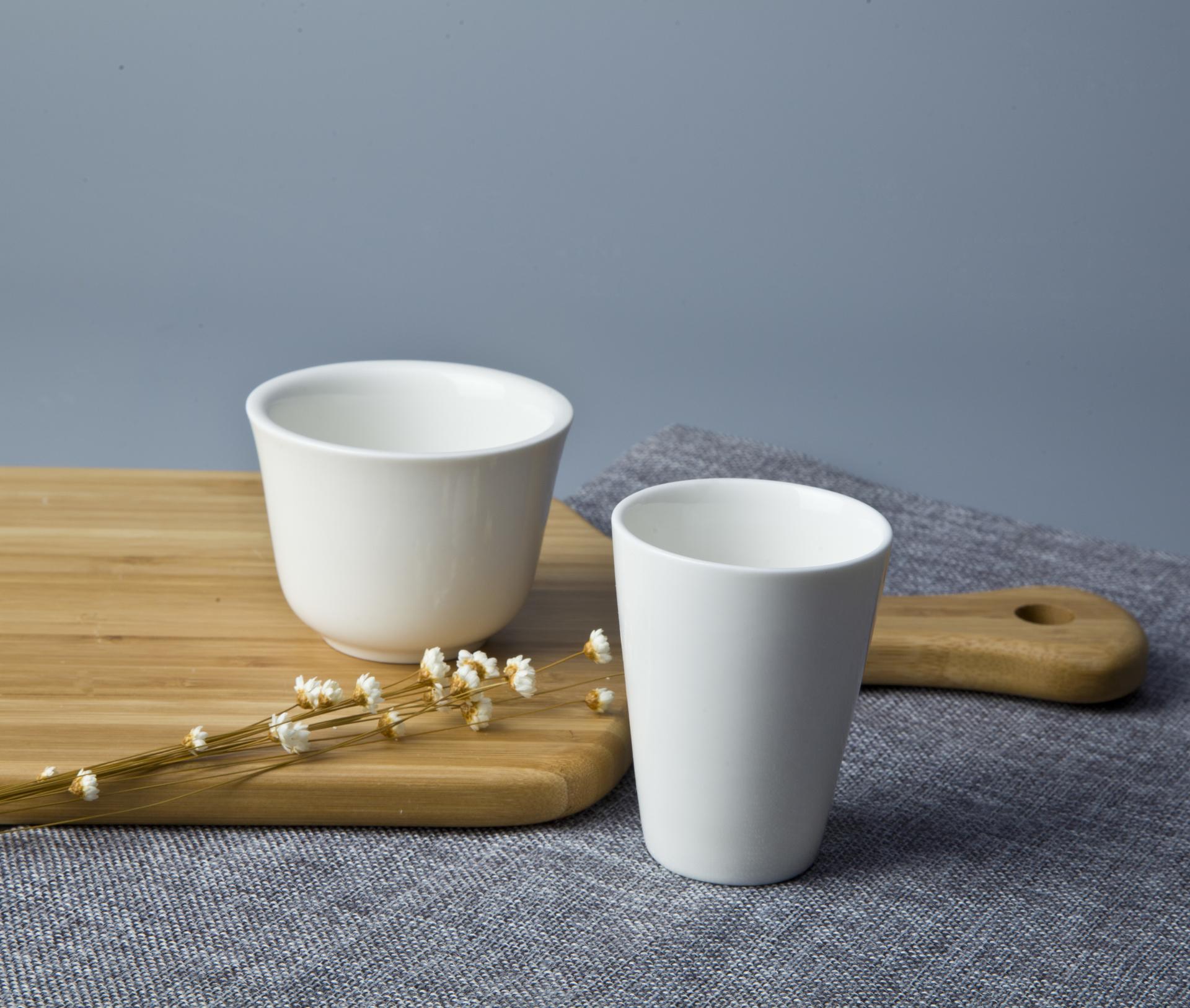 simple white banquet hall cups porcelain tea porcelain cup