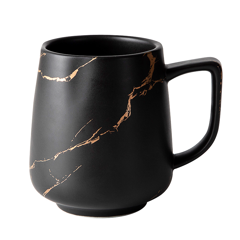 400ml 450ml Restaurant Hotel Cafe Use Black Gold Ceramic Coffee Mug, Ceramic Coffee Mug Manufacturer