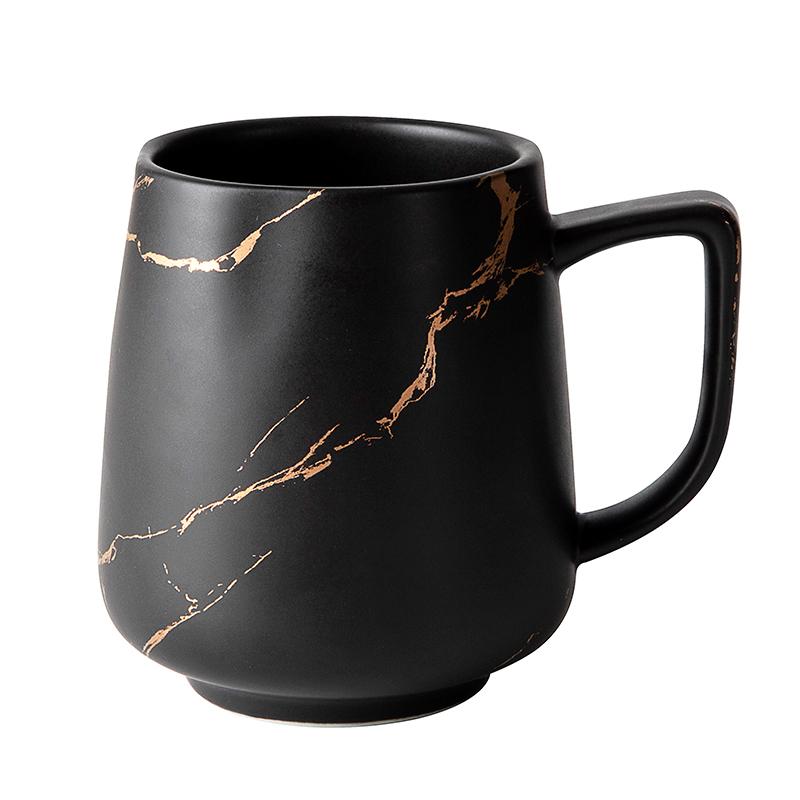 400ml 450ml Restaurant Hotel Cafe Use Black Gold Ceramic Coffee Mug, Ceramic Coffee Mug Manufacturer
