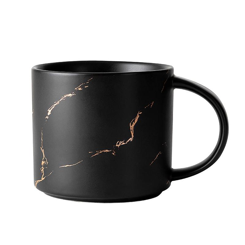 400ml 450ml Restaurant Hotel Cafe Use Black Gold Ceramic Porcelain Coffee Mug & Cup
